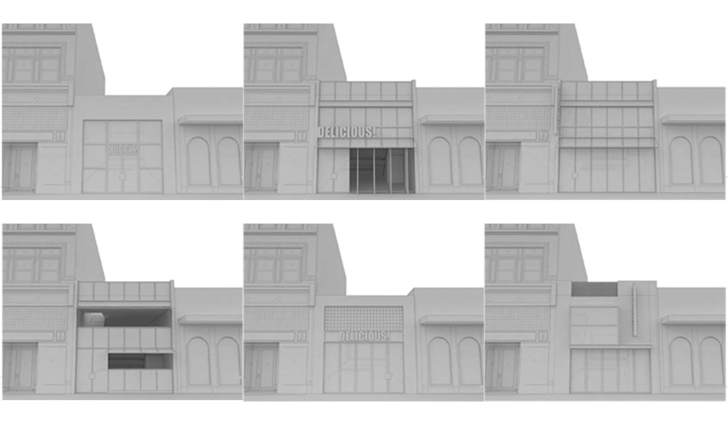 Facade studies for 429 Granby Street