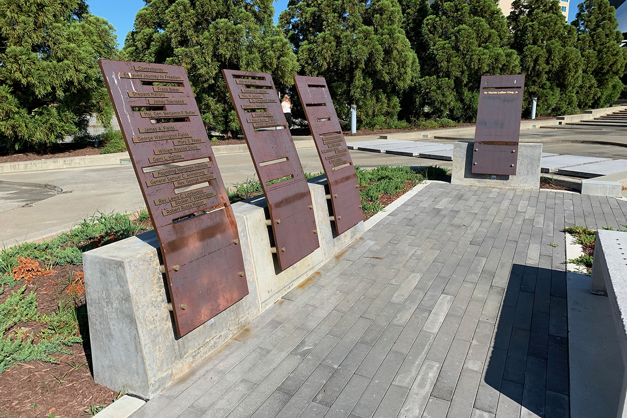 MARTIN LUTHER KING, JR. and HAMPTON HEROES MEMORIAL PLAZA