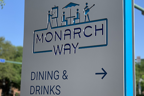ODU MONARCH WAY WAYFINDING